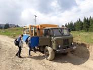 19 Transportfahrzeug für den Rückweg. Die Karpatenwanderung im Umland von Jasinja. © N.Gutsul