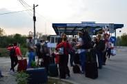 27 Ukrainisch-rumänischer Genzübergang bei Solotvino zu Sighet. © O.Hegedues