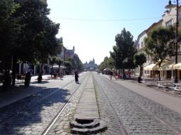 4 Ein Blick südwärts über die Hauptstraße in Košice. © N.Gutsul