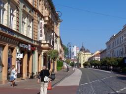 5 Nördlicher Teil der Hlavná (Hauptstraße), unterhalb des Sitzes der Selbstverwaltung des Kreises Košice (im Hintergrund zu sehen). © N.Gutsul
